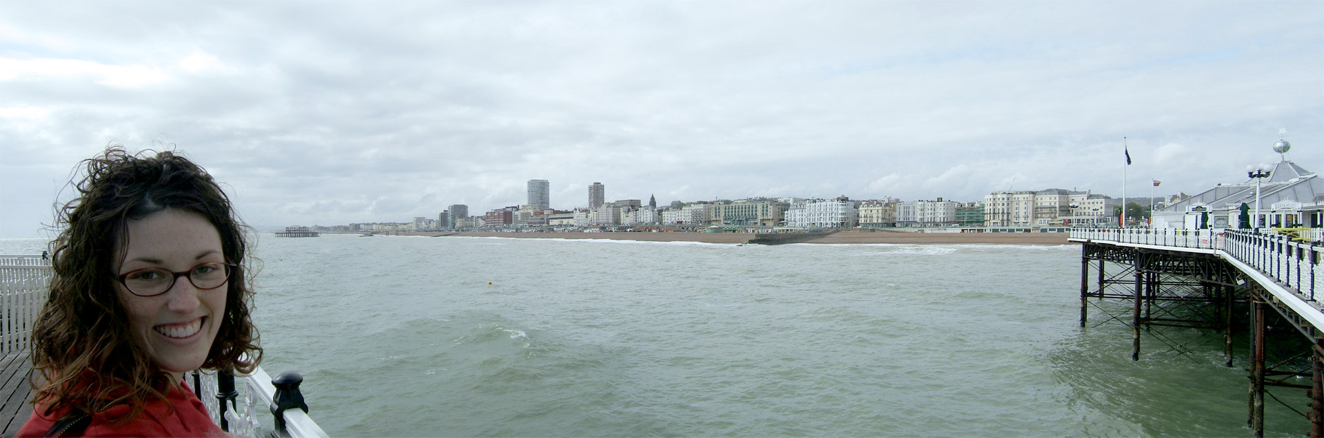 View of the seafront from the pier