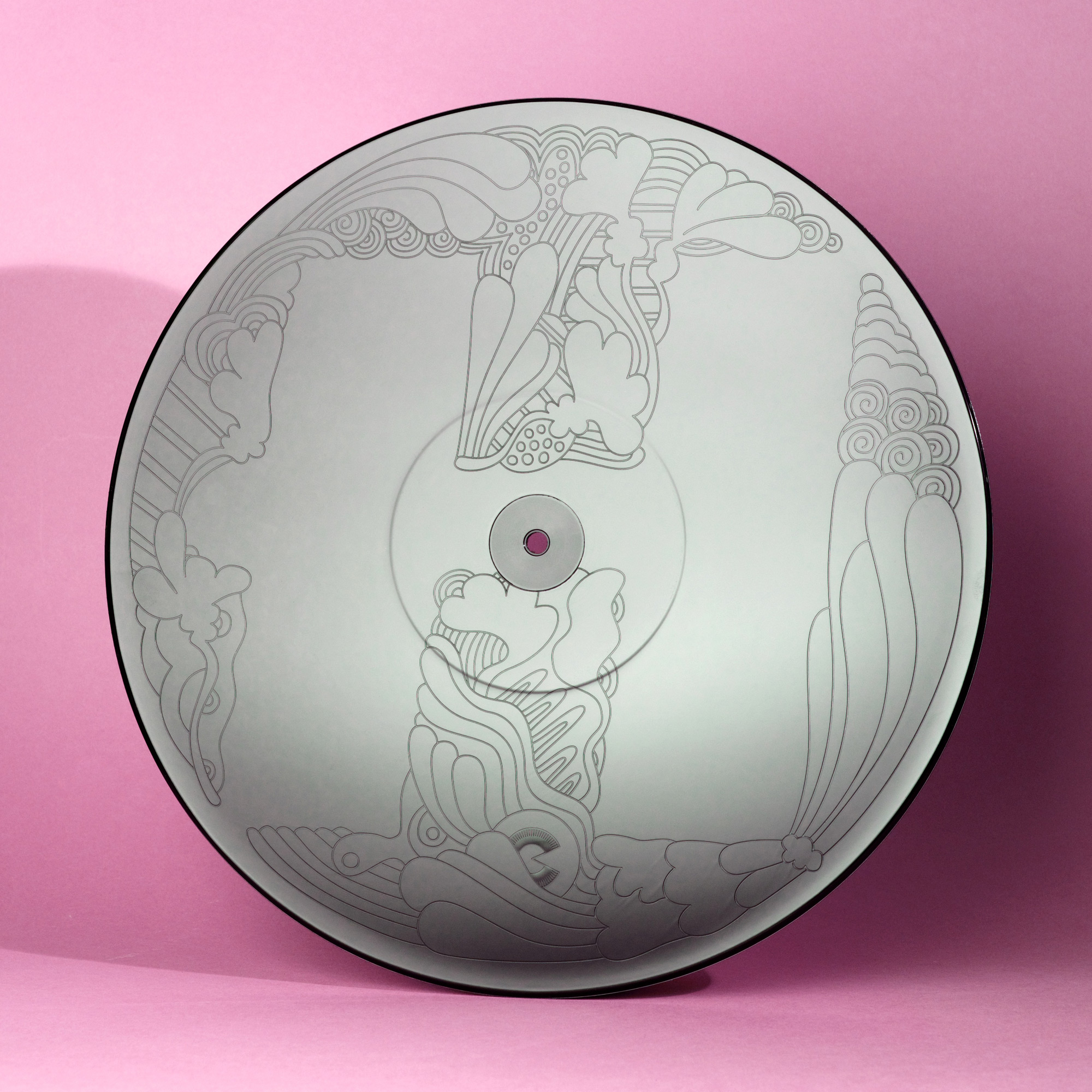 Etched vinyl disc for Urbandawn's 'Come Together' record