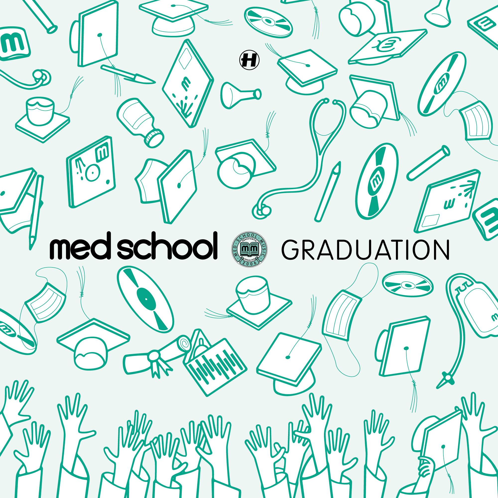Alternative, classic-green Med School Graduation record cover