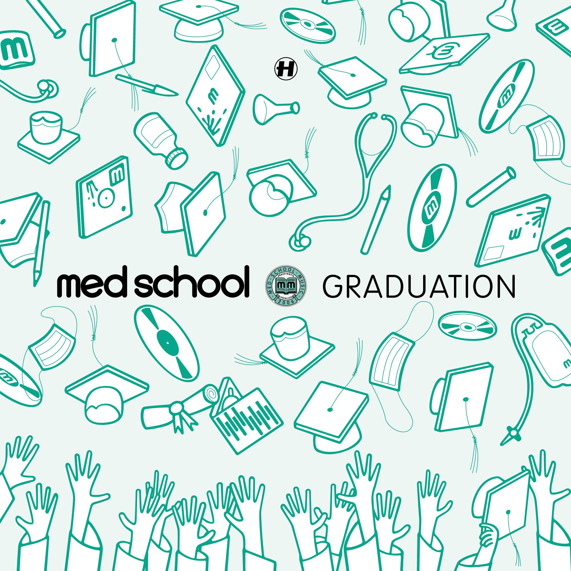 Alternative, classic-green Med School Graduation record cover